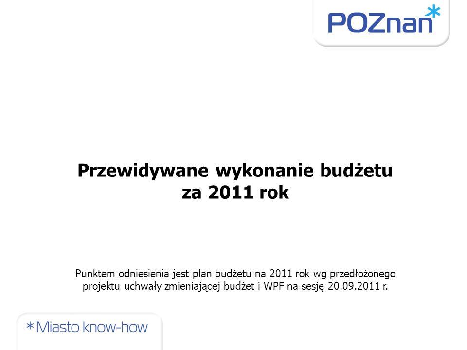 Przewidywane wykonanie budżetu za 2011 rok