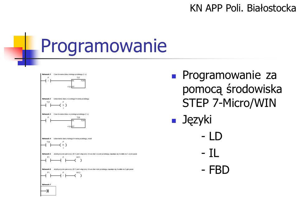 Programowanie Programowanie za pomocą środowiska STEP 7-Micro/WIN