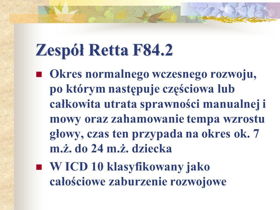 Zespół Retta F84.2