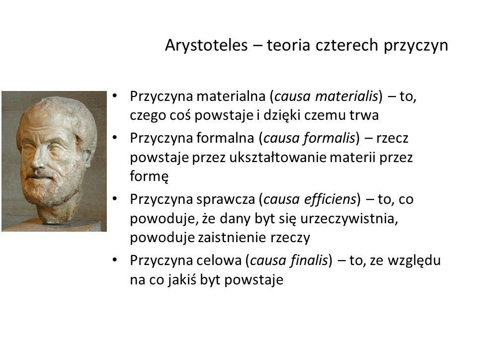 Arystoteles – teoria czterech przyczyn