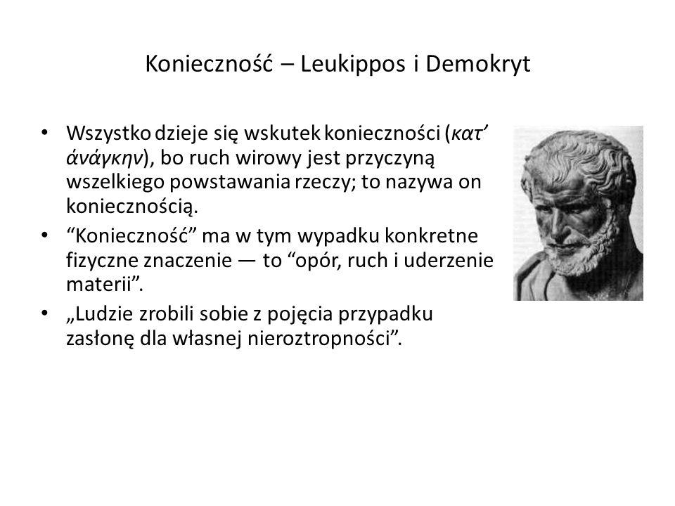 Konieczność – Leukippos i Demokryt