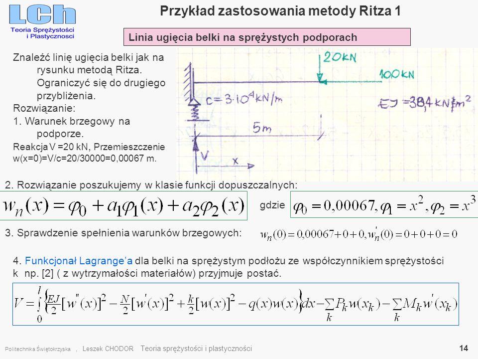 Przykład zastosowania metody Ritza 1