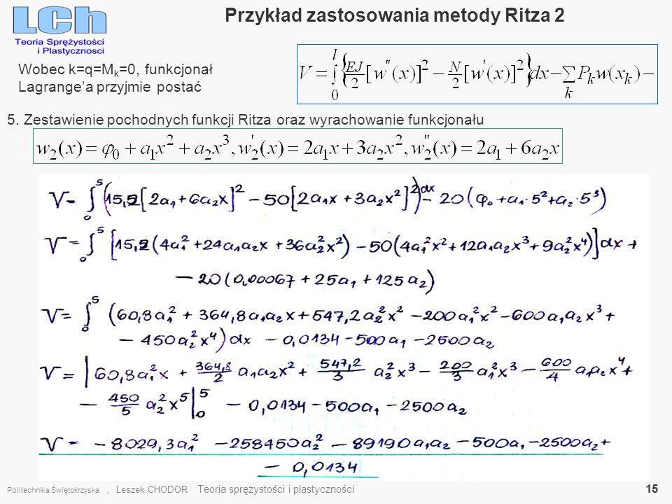 Przykład zastosowania metody Ritza 2