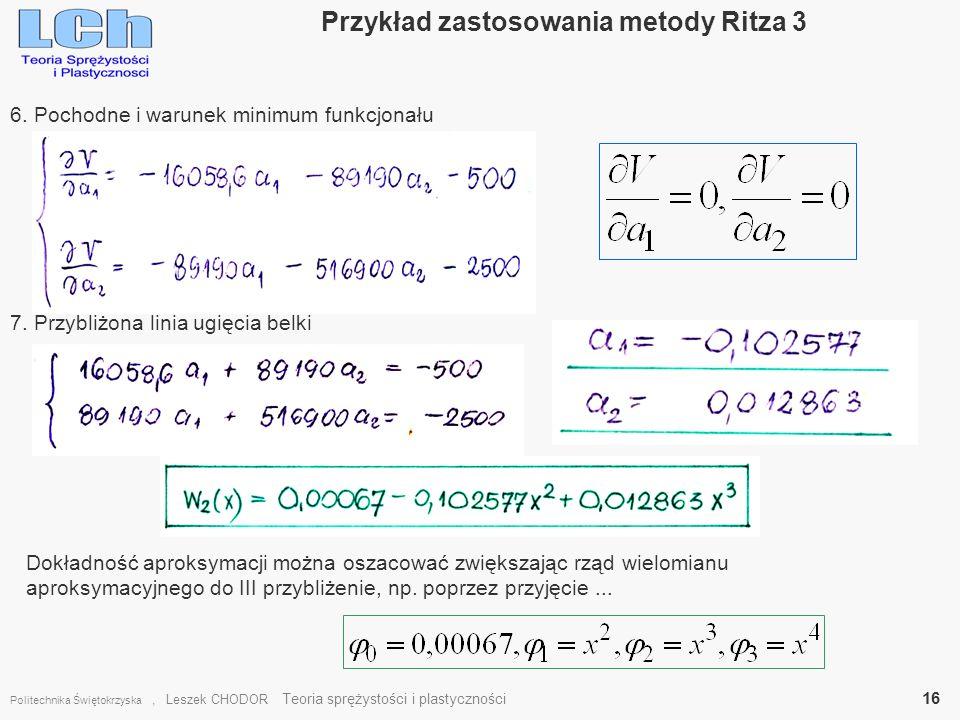 Przykład zastosowania metody Ritza 3
