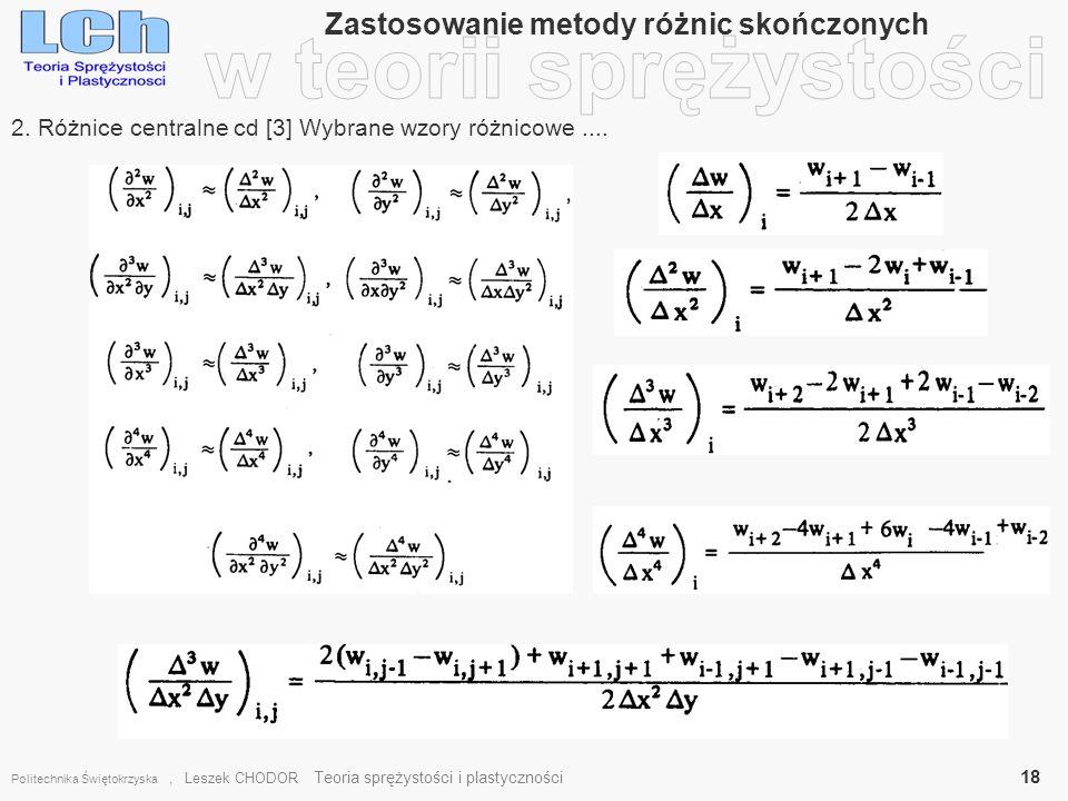 Zastosowanie metody różnic skończonych