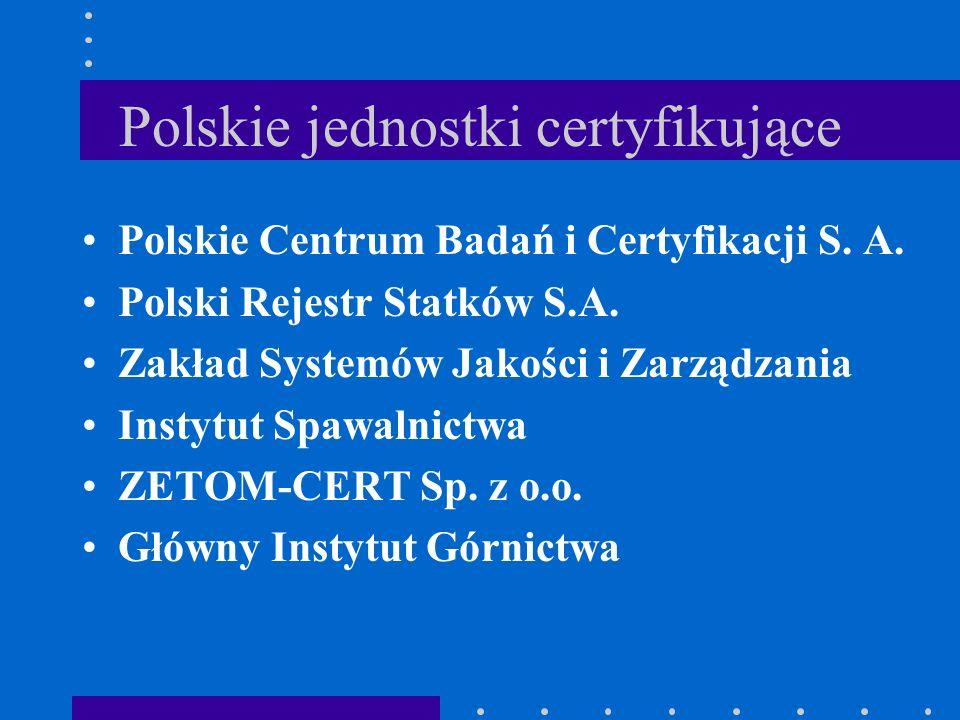 Polskie jednostki certyfikujące