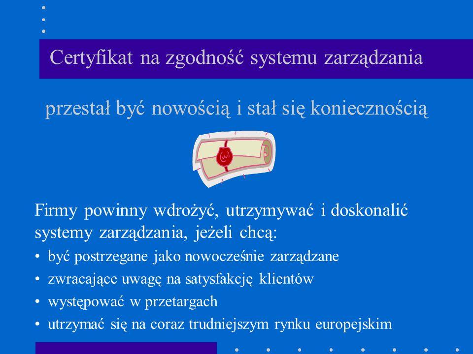 Certyfikat na zgodność systemu zarządzania przestał być nowością i stał się koniecznością