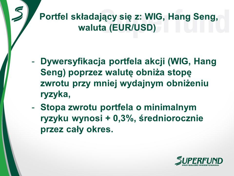 Portfel składający się z: WIG, Hang Seng, waluta (EUR/USD)