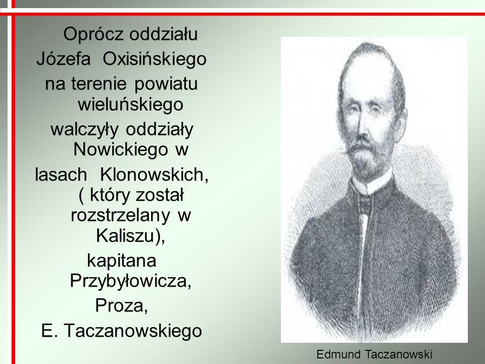 na terenie powiatu wieluńskiego walczyły oddziały Nowickiego w