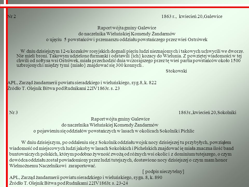 Raport wójta gminy Galewice