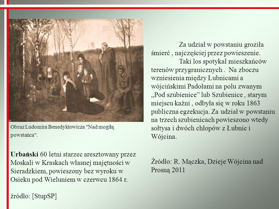 Źródło: R. Mączka, Dzieje Wójcina nad Prosną 2011