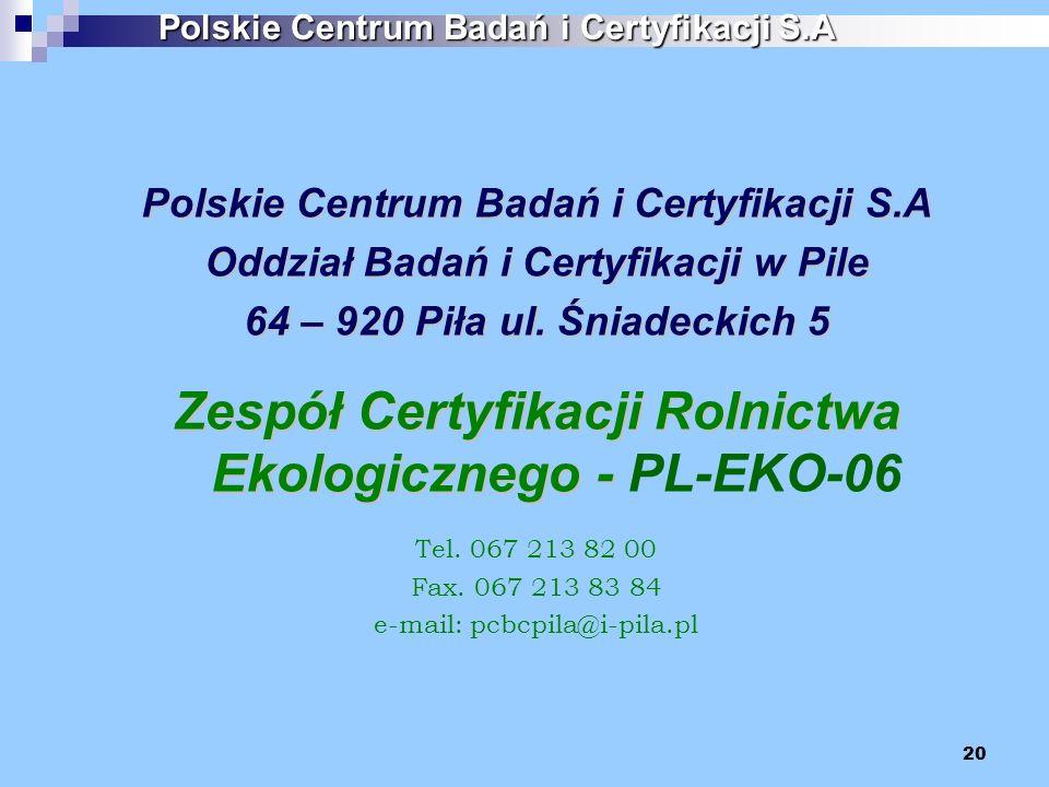 Zespół Certyfikacji Rolnictwa Ekologicznego - PL-EKO-06