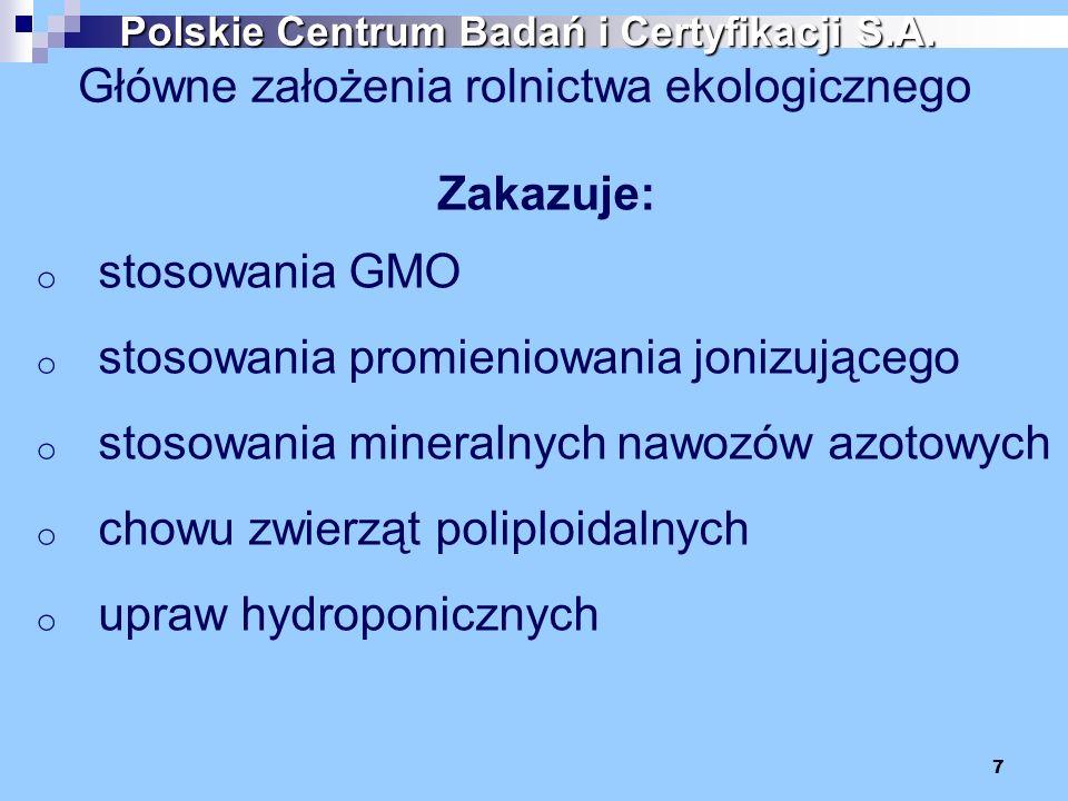 Główne założenia rolnictwa ekologicznego