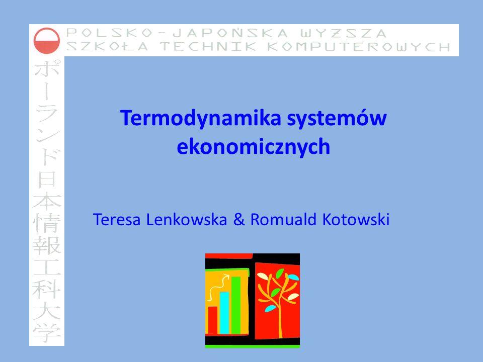 Termodynamika systemów ekonomicznych