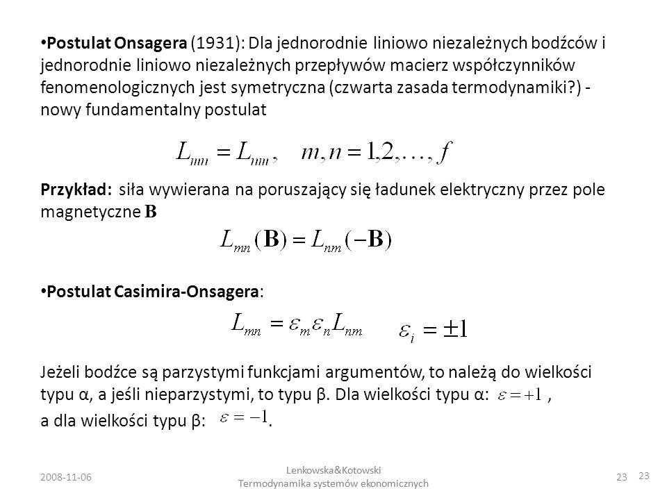 Postulat Casimira-Onsagera: