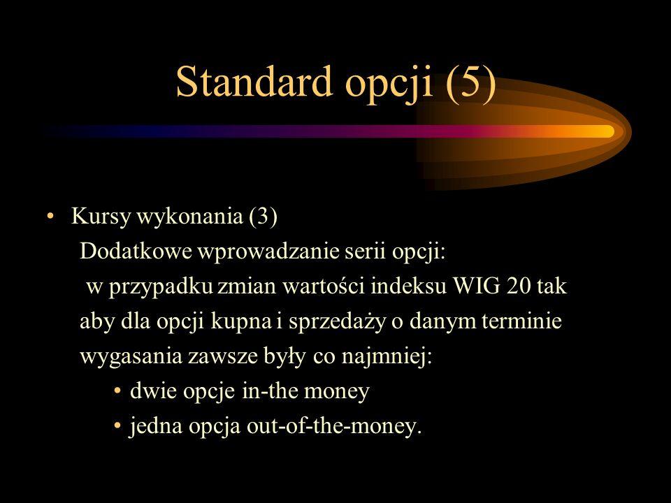 Standard opcji (5) Kursy wykonania (3)
