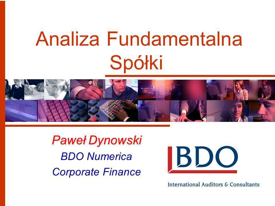 Analiza Fundamentalna Spółki