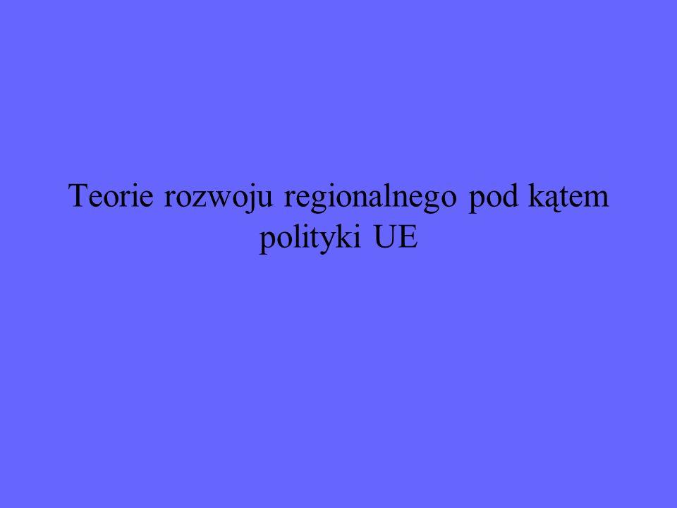 Teorie rozwoju regionalnego pod kątem polityki UE