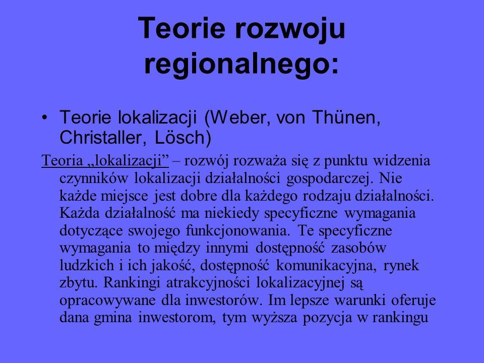 Teorie rozwoju regionalnego: