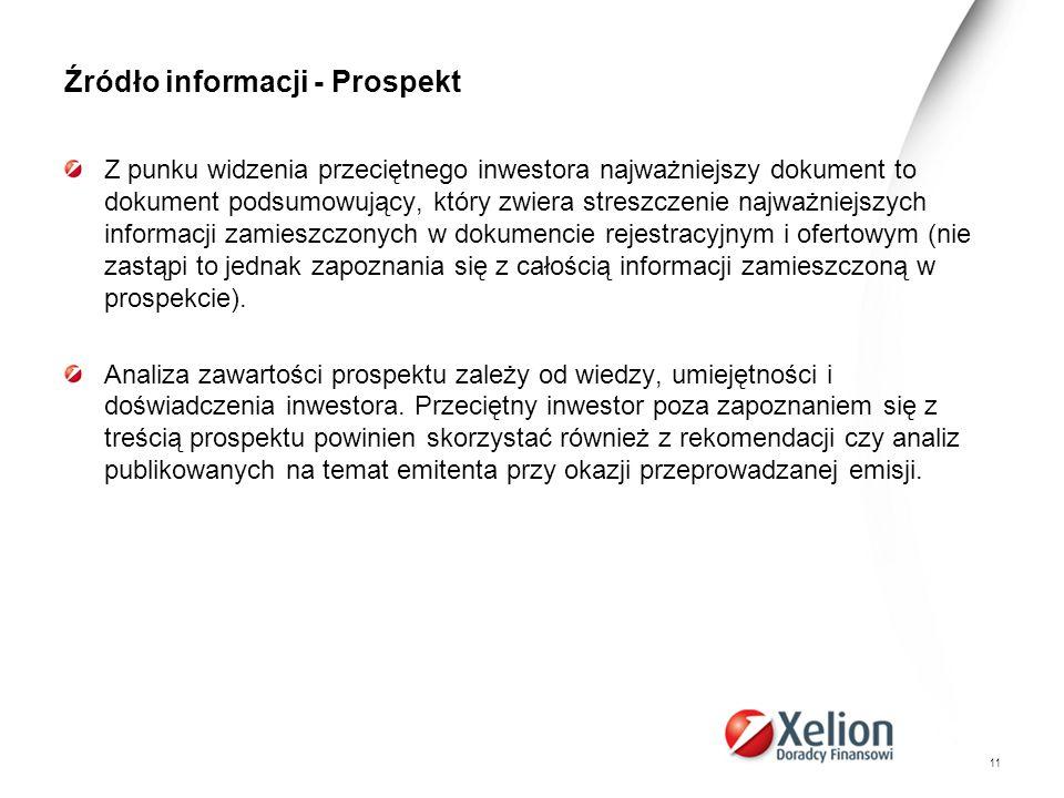 Źródło informacji - Prospekt