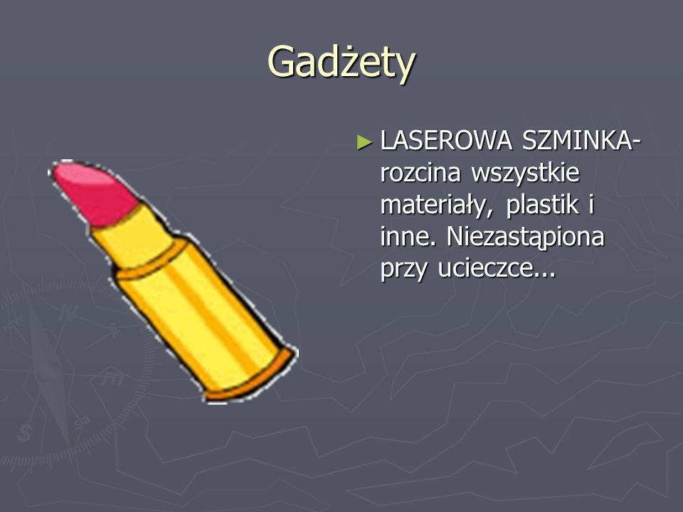 Gadżety LASEROWA SZMINKA-rozcina wszystkie materiały, plastik i inne. Niezastąpiona przy ucieczce...