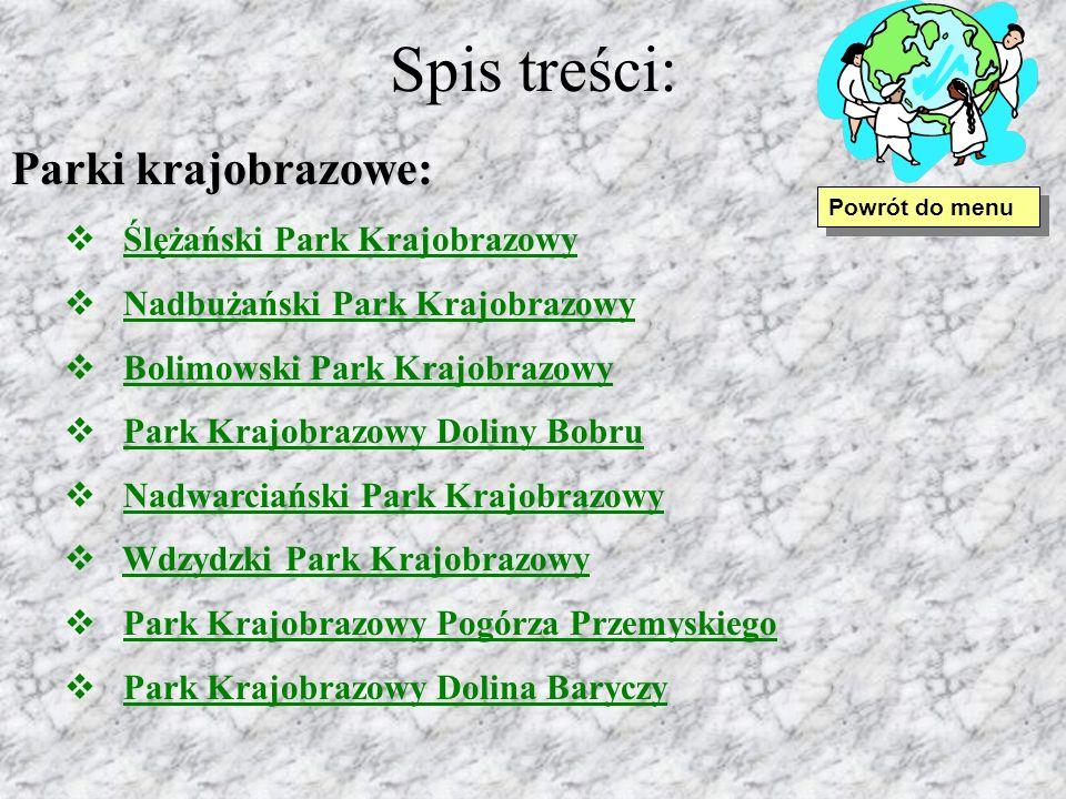 Spis treści: Parki krajobrazowe: Ślężański Park Krajobrazowy