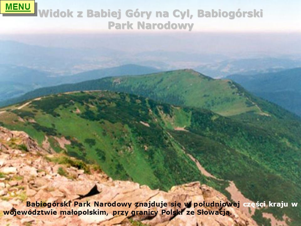 Widok z Babiej Góry na Cyl, Babiogórski Park Narodowy