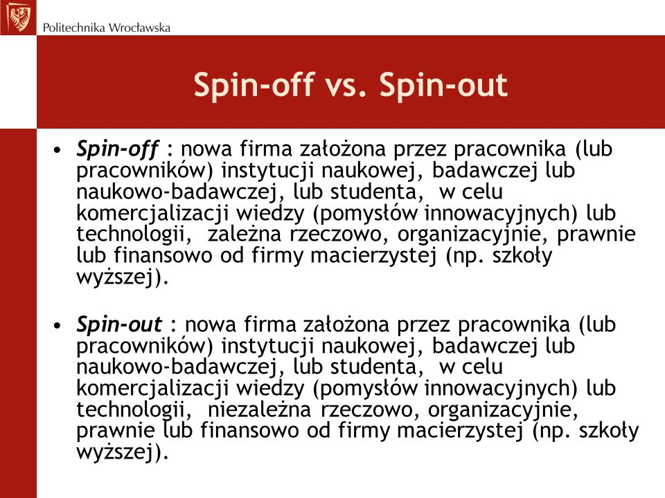 Spin-off vs. Spin-out