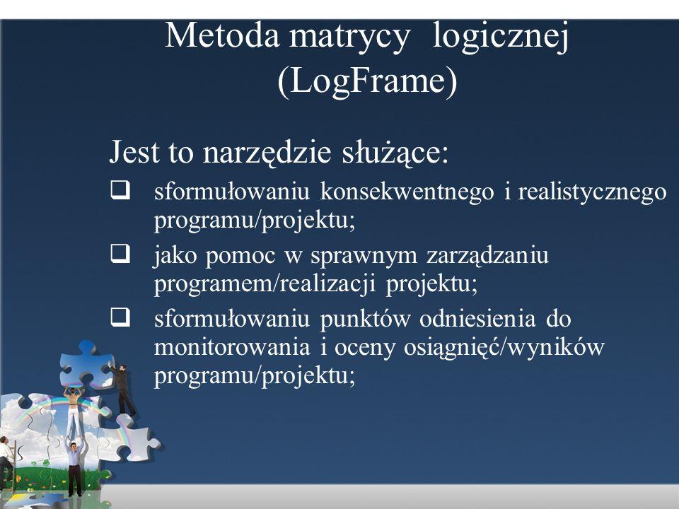 Metoda matrycy logicznej (LogFrame)
