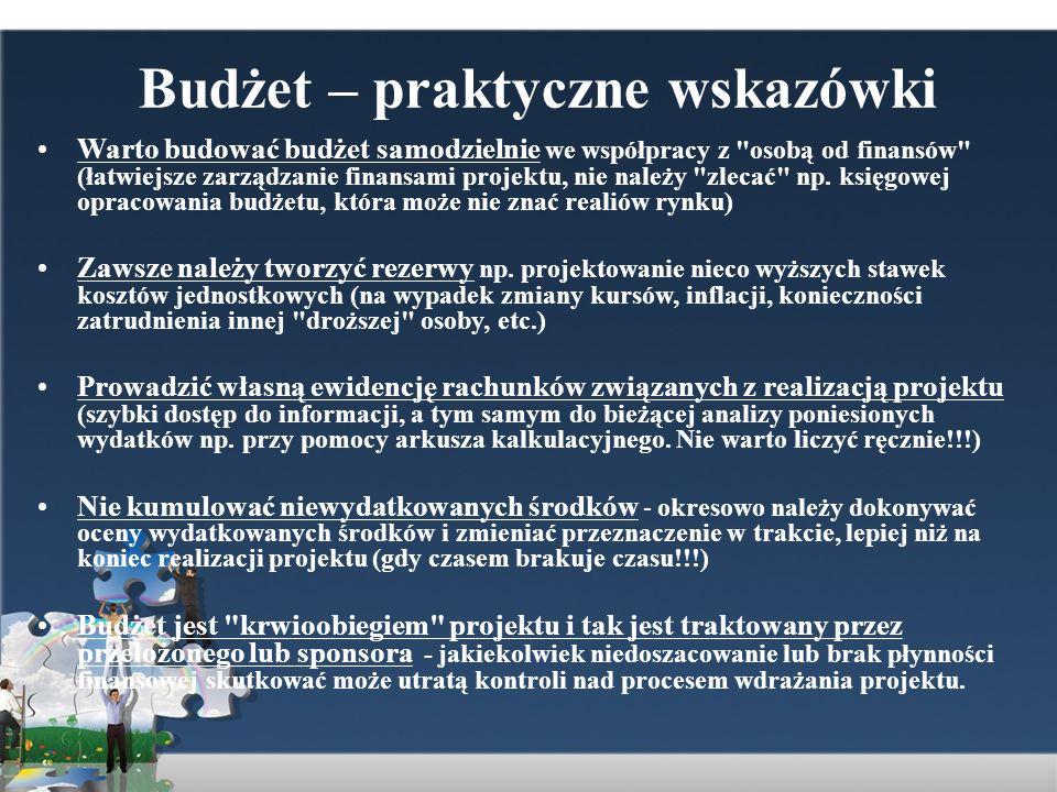 Budżet – praktyczne wskazówki