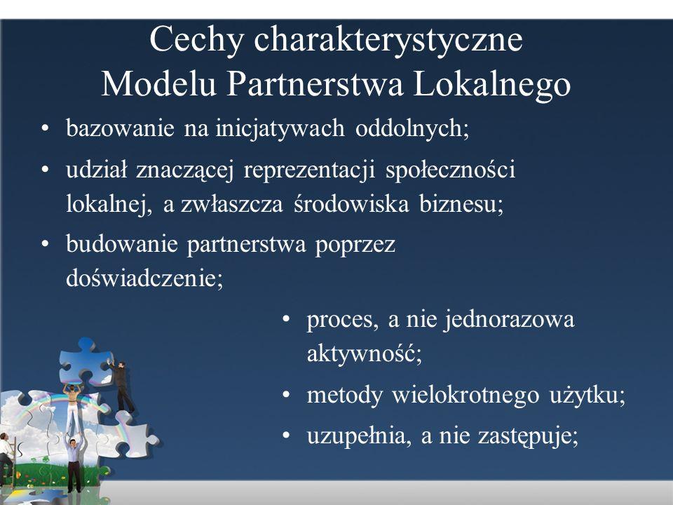 Cechy charakterystyczne Modelu Partnerstwa Lokalnego