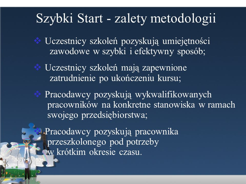 Szybki Start - zalety metodologii