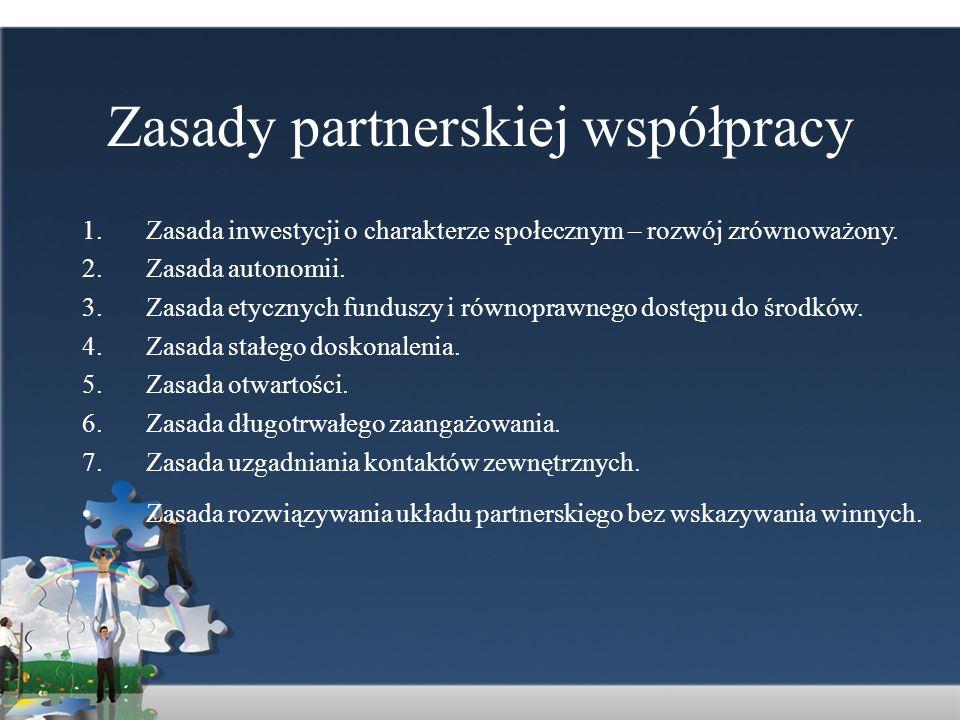 Zasady partnerskiej współpracy