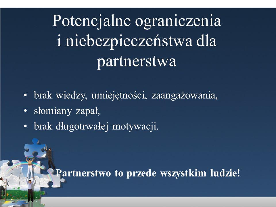 Potencjalne ograniczenia i niebezpieczeństwa dla partnerstwa