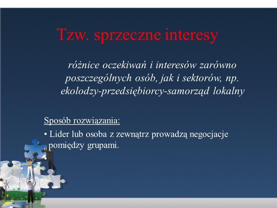 Tzw. sprzeczne interesy