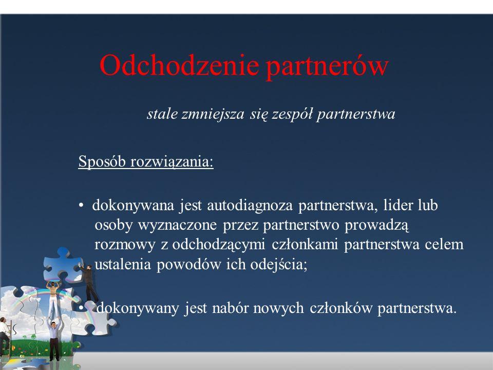 Odchodzenie partnerów