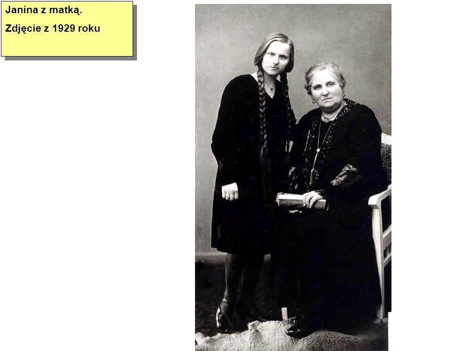 Janina z matką. Zdjęcie z 1929 roku