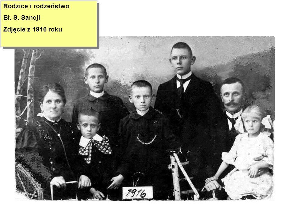 Rodzice i rodzeństwo Bł. S. Sancji Zdjęcie z 1916 roku