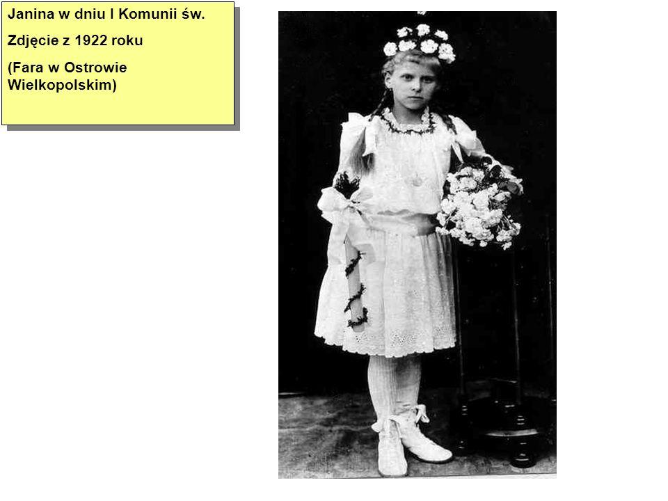 Janina w dniu I Komunii św.