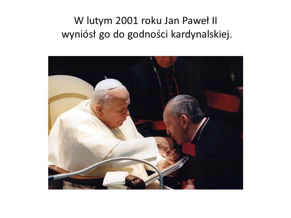 W lutym 2001 roku Jan Paweł II wyniósł go do godności kardynalskiej.