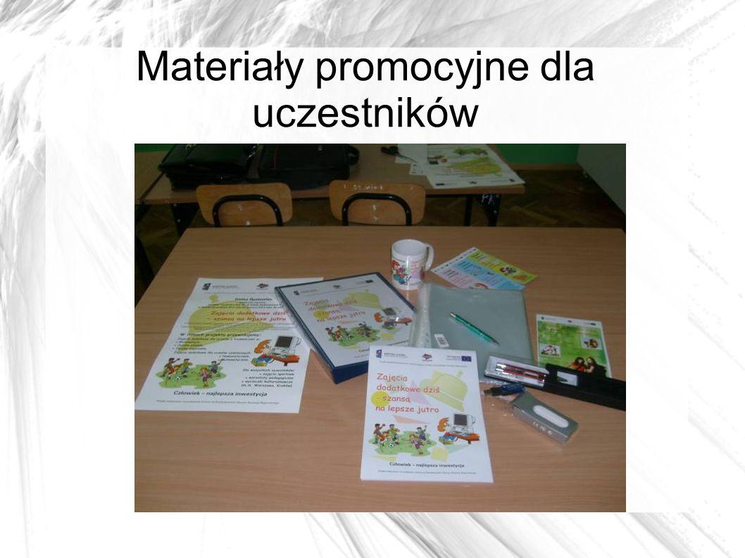 Materiały promocyjne dla uczestników