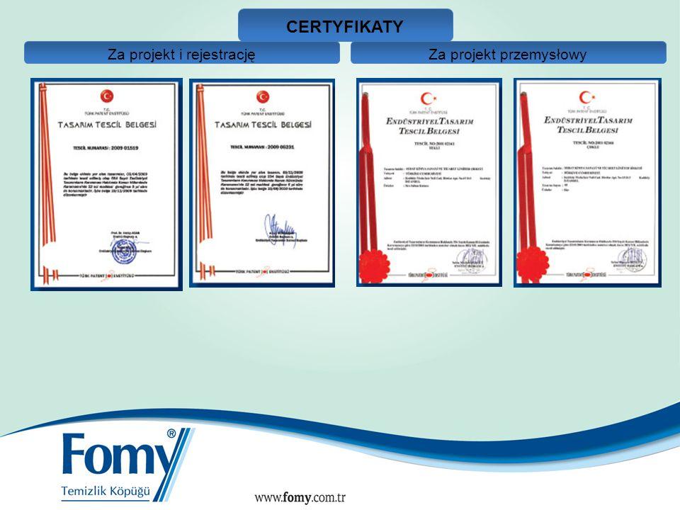 CERTYFIKATY Za projekt i rejestrację Za projekt przemysłowy 12