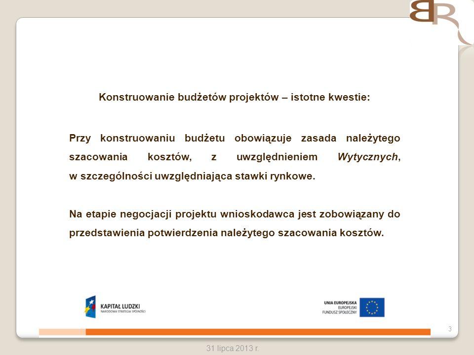 Konstruowanie budżetów projektów – istotne kwestie: