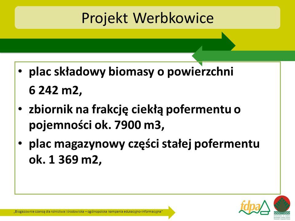 Projekt Werbkowice plac składowy biomasy o powierzchni 6 242 m2,