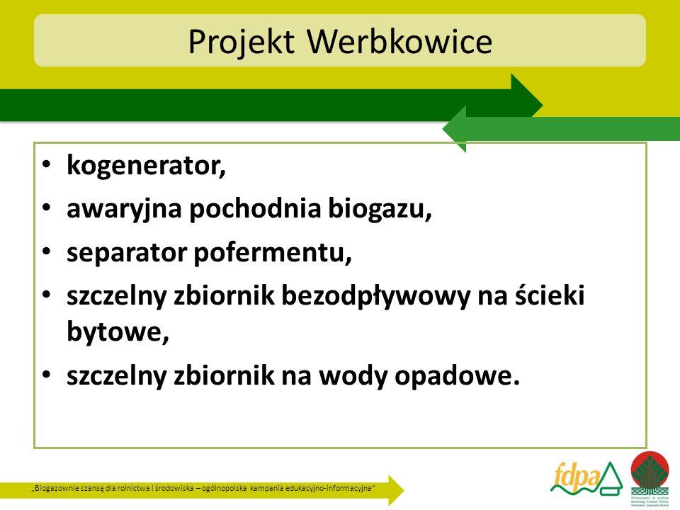 Projekt Werbkowice kogenerator, awaryjna pochodnia biogazu,