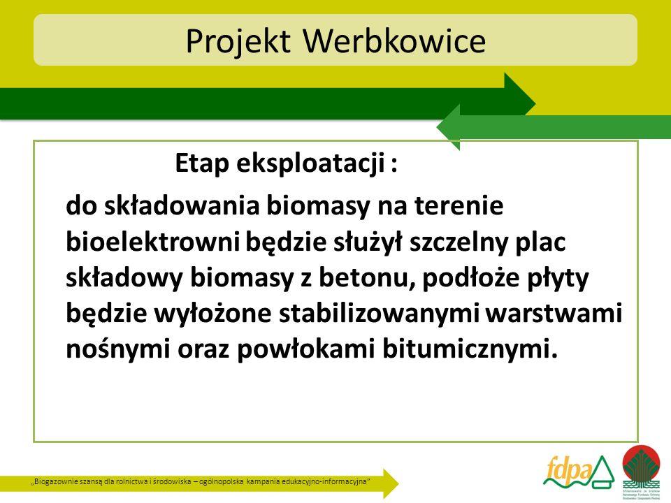 Projekt Werbkowice Etap eksploatacji :