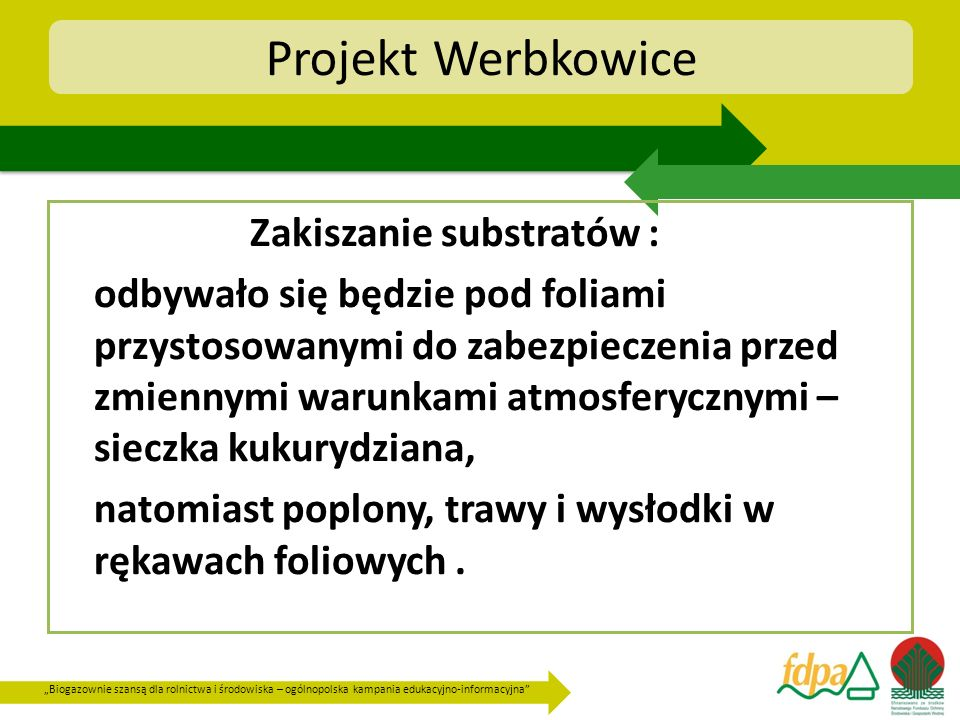 Projekt Werbkowice Zakiszanie substratów :