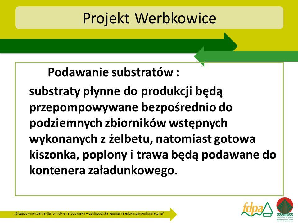 Projekt Werbkowice Podawanie substratów :