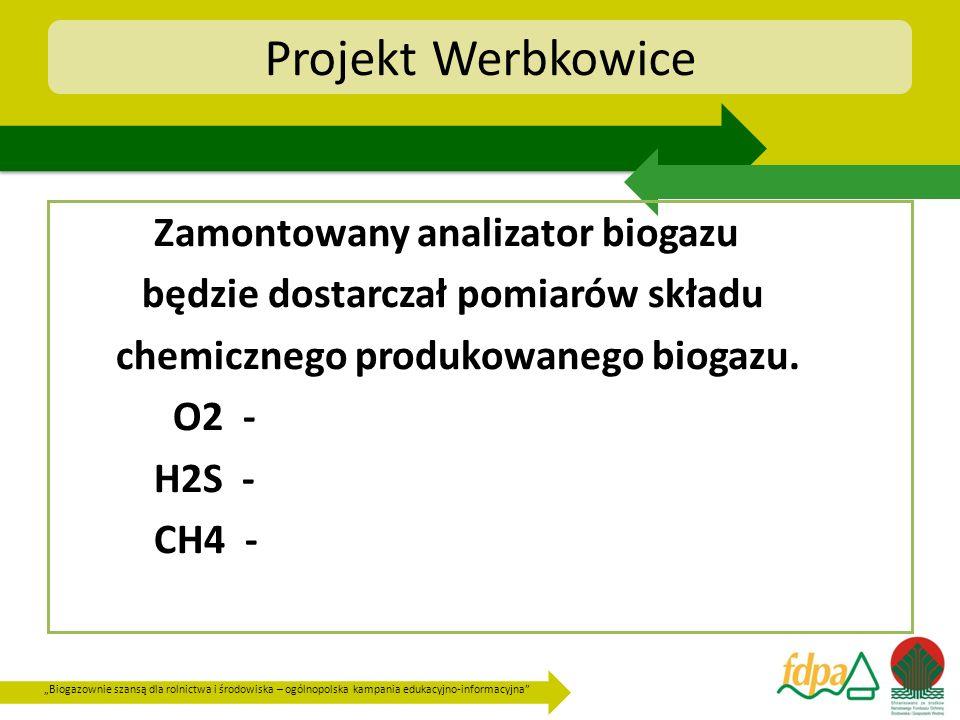 Projekt Werbkowice Zamontowany analizator biogazu