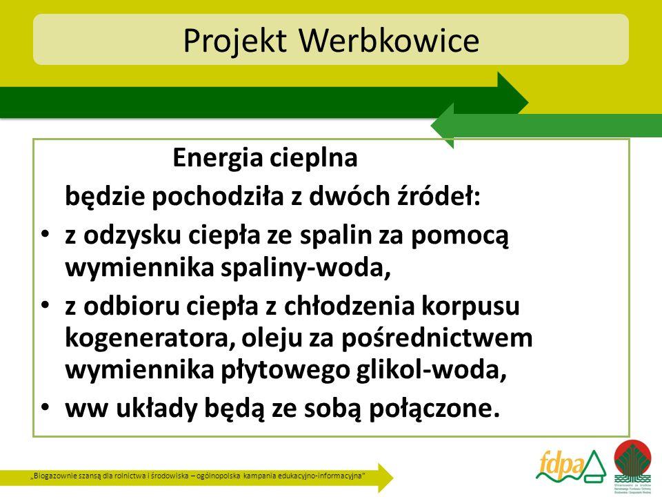 Projekt Werbkowice Energia cieplna będzie pochodziła z dwóch źródeł: